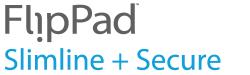 FlipPad Slimline + Secure Logo